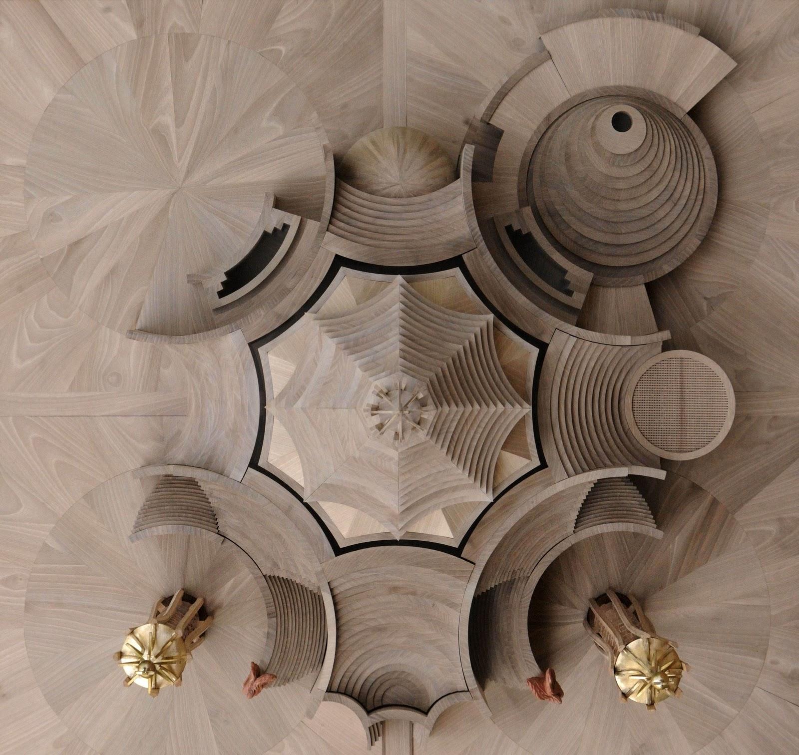 Изображение структуры пространства в виде окружностей